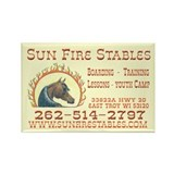 Cool Fire horse Rectangle Magnet