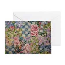 Cabbage Rose Quilt Greeting Cards