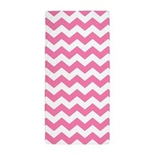 Pink And White Chevron, Beach Towel