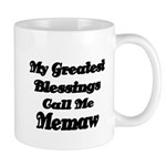 My Greatest Blessings call me Memaw 2 Mugs
