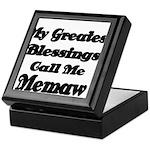 My Greatest Blessings call me Memaw 2 Keepsake Box