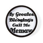 My Greatest Blessings call me Memaw 2 Wall Clock