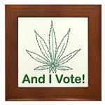 And I Vote! Framed Tile