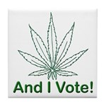And I Vote! Tile Coaster
