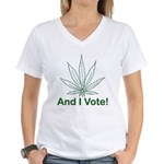 And I Vote! Women's V-Neck T-Shirt