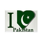 I love Pakistan Rectangle Magnet