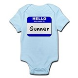 hello my name is gunner  Infant Bodysuit