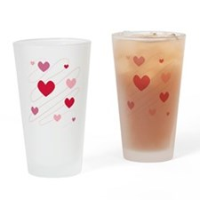 Hearts Love Peace Party  Drinking Glass