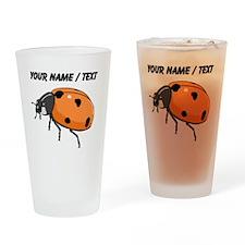 Custom Ladybug Drinking Glass