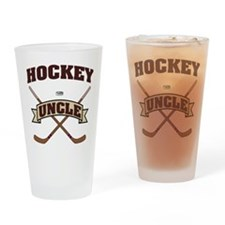 Hockey Uncle Drinking Glass