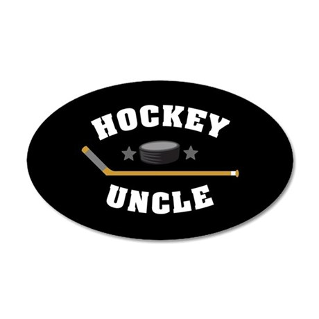 Hockey Uncle 20x12 Oval Wall Decal