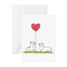 Corgi Valentine - 10 Pack Greeting Cards