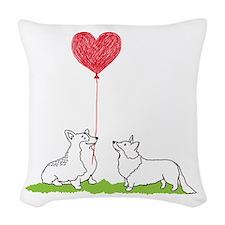 Corgi Valentine - Woven Throw Pillow