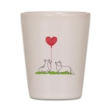 Corgi Valentine - Shot Glass