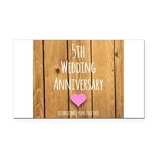 5th Wedding Anniversary Rectangle Car Magnet