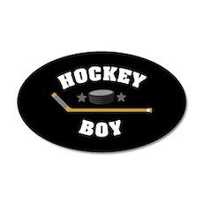 Hockey Boy 20x12 Oval Wall Decal