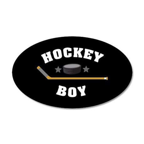 Hockey Boy 35x21 Oval Wall Decal