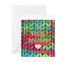 7th Wedding Anniversary Greeting Cards