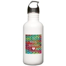 7th Wedding Anniversary Water Bottle