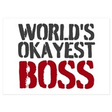 Worlds Okayest Boss Invitations