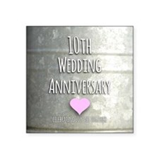 10th Wedding Anniversary Sticker