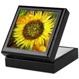 hand painted sunflower Keepsake Box