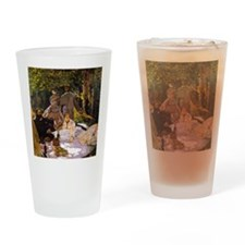 Monet Painting Art Love Drinking Glass