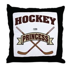 Hockey Princess Throw Pillow