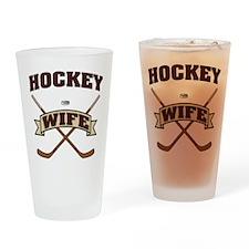Hockey Wife Drinking Glass