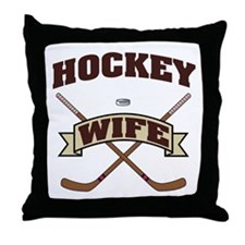 Hockey Wife Throw Pillow