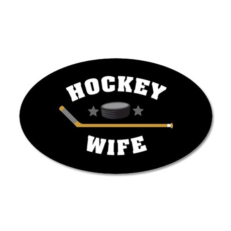 Hockey Wife 20x12 Oval Wall Decal