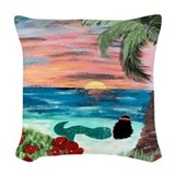 Mermaid pillow Woven Pillows