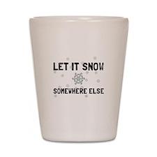 Let It Snow Shot Glass