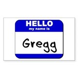 hello my name is gregg Rectangle Decal
