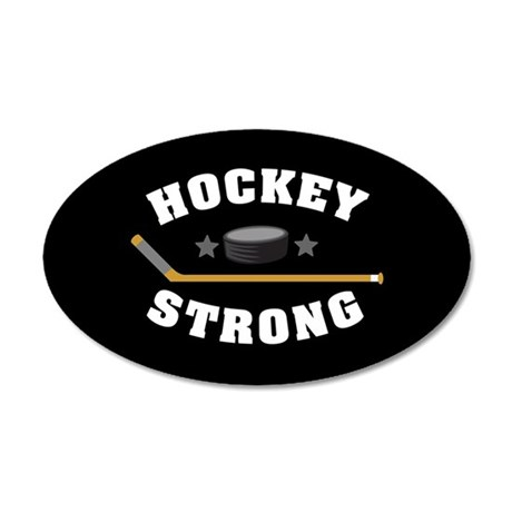 Hockey Strong 20x12 Oval Wall Decal