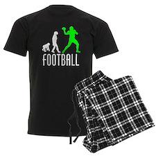 Football Quarterback Evolution (Green) pajamas