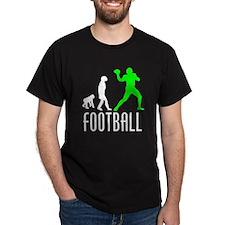 Football Quarterback Evolution (Green) T-Shirt