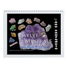 Twelve Minerals Wall Calendar