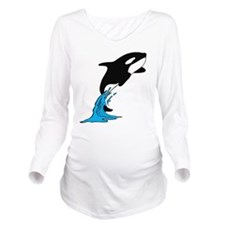 shamu Long Sleeve Maternity T-Shirt