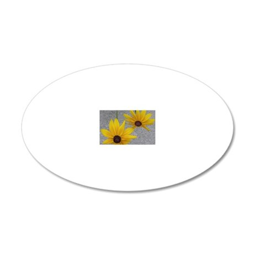 twin sunflowers 20x12 Oval Wall Decal