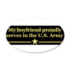 Unique Military girlfriend Oval Car Magnet