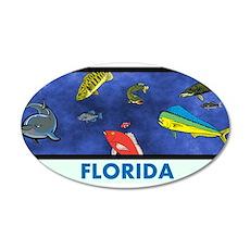 Florida Fish Tank 35x21 Oval Wall Decal