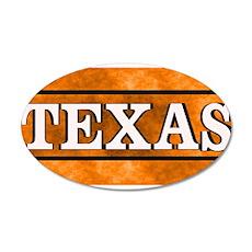 Texas Orange 35x21 Oval Wall Decal