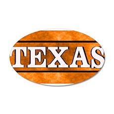 Texas Orange 20x12 Oval Wall Decal