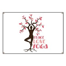 PEACE LOVE YOGA Banner