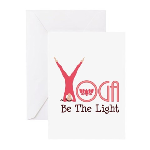 YOGA Be The Light Greeting Cards