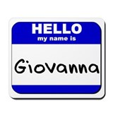 hello my name is giovanna  Mousepad