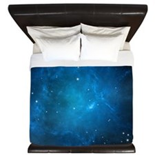 Blue Space King Duvet