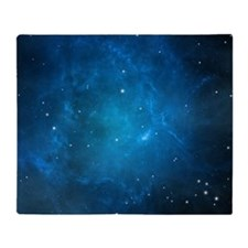 Blue Space Throw Blanket