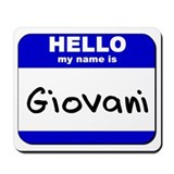 hello my name is giovani  Mousepad